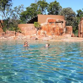 Cooinda Lodge Kakadu shaded swimming pool