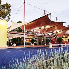 Desert Gardens Hotel entrance