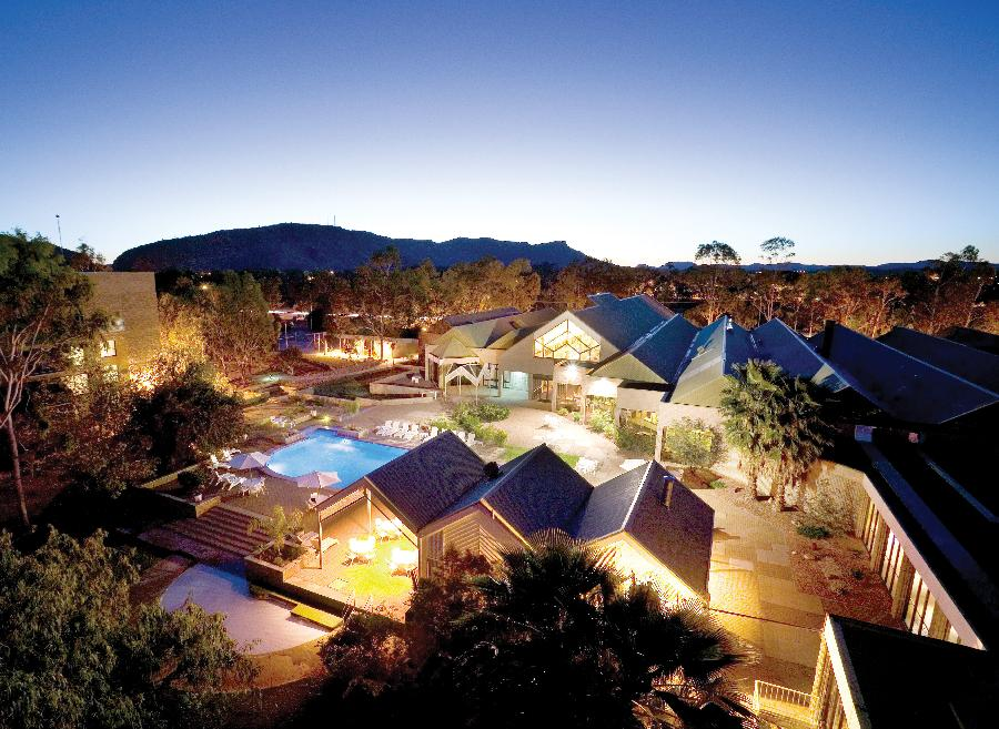 Doubletree by Hilton Alice Springs aerial view