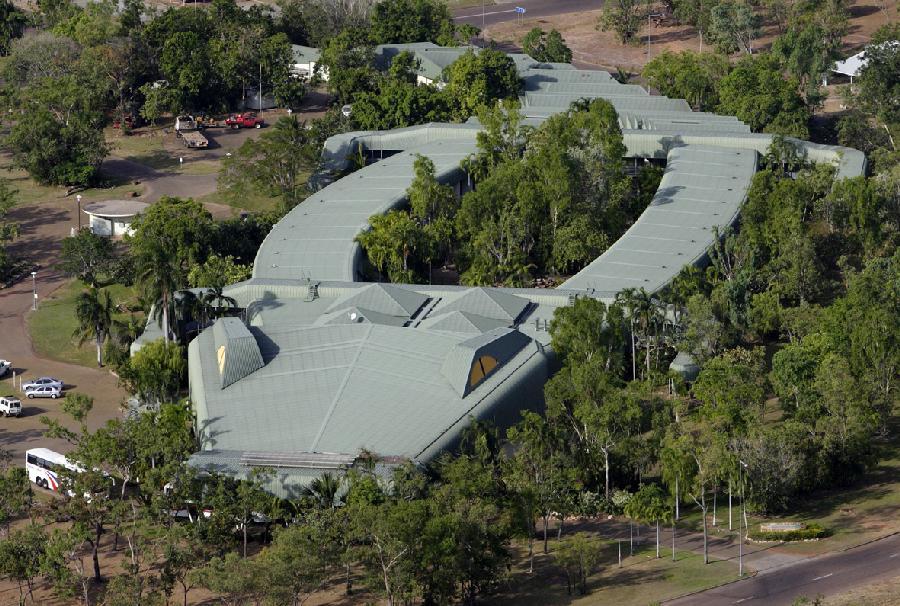 Mercure Kakadu Crocodile Hotel famous crocodile design