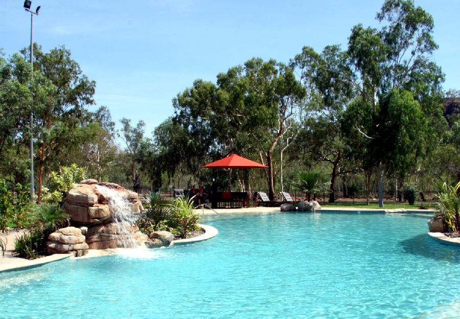 Nitmiluk Chalets campground pool