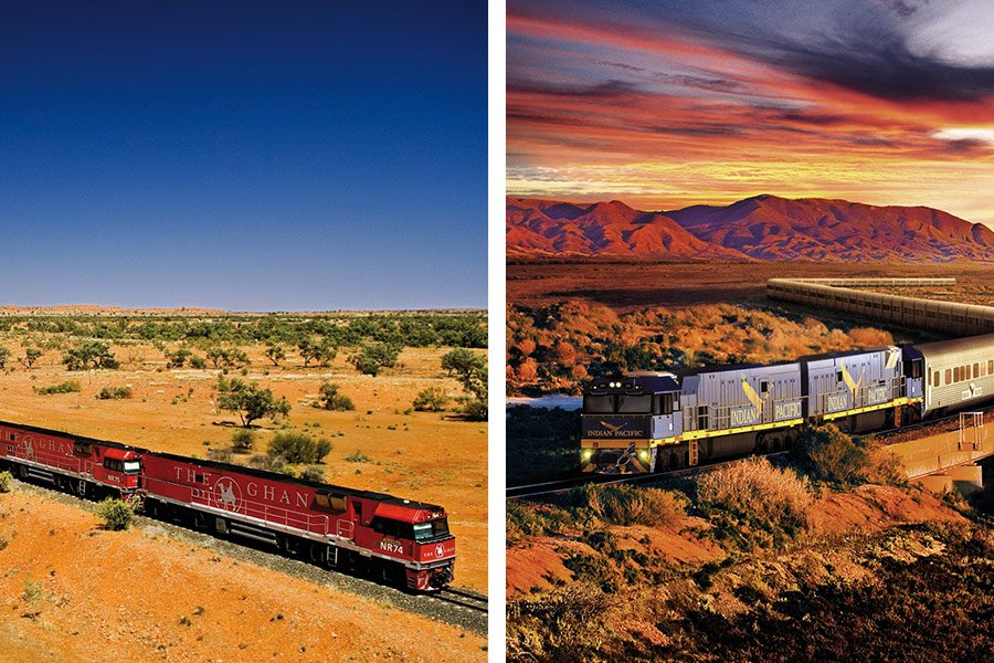 The Ghan and The Indian Pacific rail packages